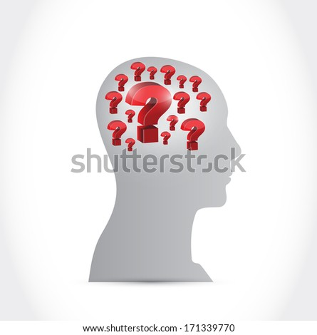 questions in your head illustration design over a white background