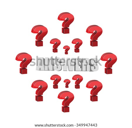 questions marks and answers illustration design graphic over white