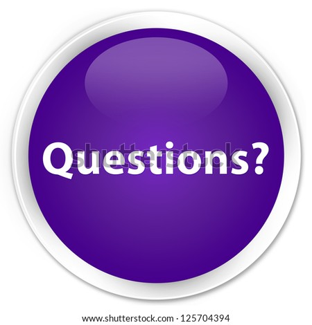 Questions? purple button - stock photo
