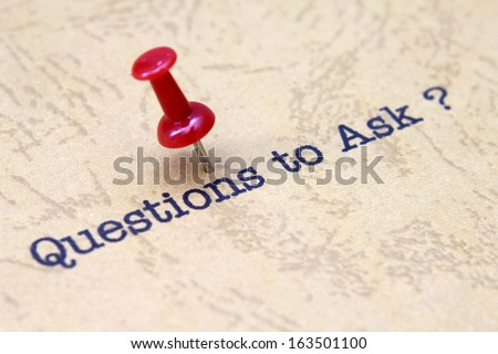 Questions to ask - stock photo