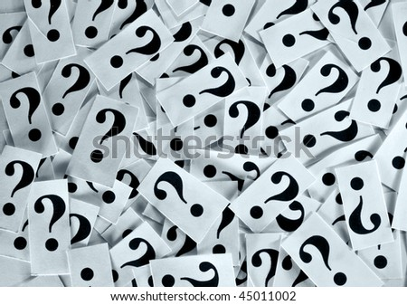 Questions without answers. - stock photo
