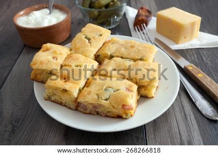 Quiche Pie - stock photo