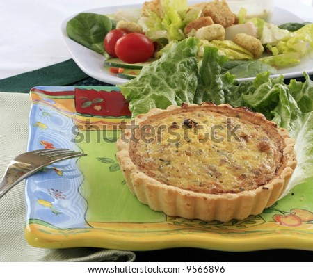 Quiche with a side salad.
