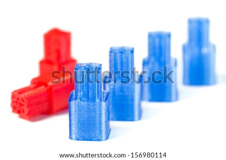 quick 3D prototyping, connector - stock photo