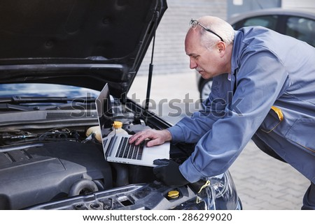 Quick help from the Internet - stock photo