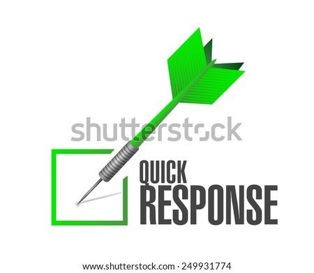 quick response dart check mark illustration design over a white background - stock photo