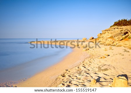 Quiet golden beach in Salento. Apulia. Italy.