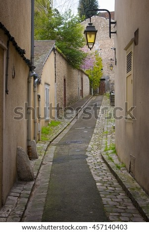 Quiet lane in rural French town