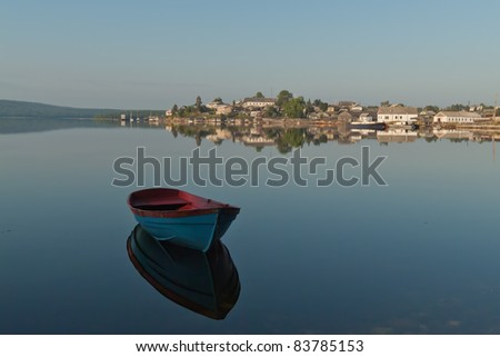 Quiet morning at the White sea - stock photo