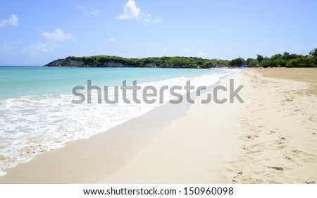 quiet, serene Macao Beach on the island of the Dominican Republic - stock photo