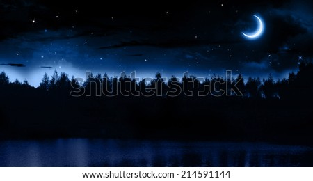 Quiet summer night - stock photo