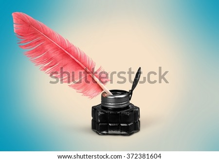 Quill Pen. - stock photo