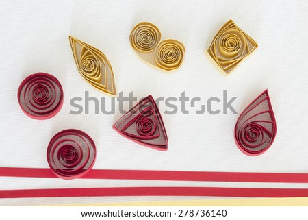 quilling basic forms - stock photo