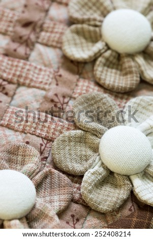 Quilt : Flowers - stock photo