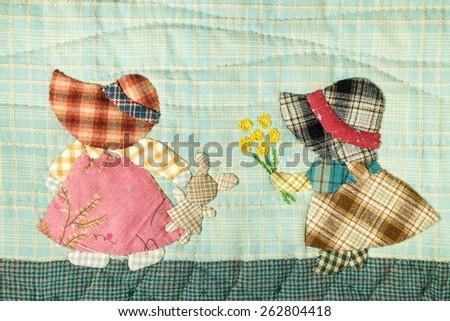Quilt : Girls - stock photo