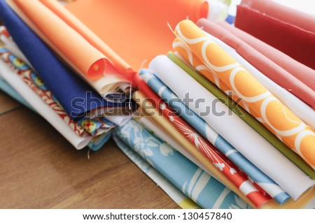 Quilting Fabrics - stock photo