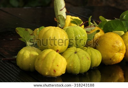 quince pome fruit - stock photo