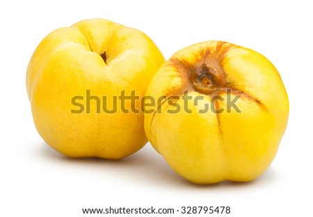 quinces isolated - stock photo