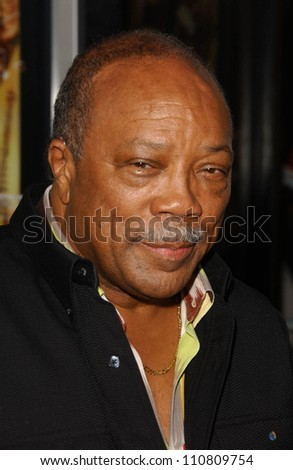 "Quincy Jones at the Los Angeles Premiere of ""Rush Hour 3"". Mann's Chinese Theater, Hollywood, CA. 07-30-07 - stock photo"