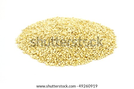 Quinoa grain on white background