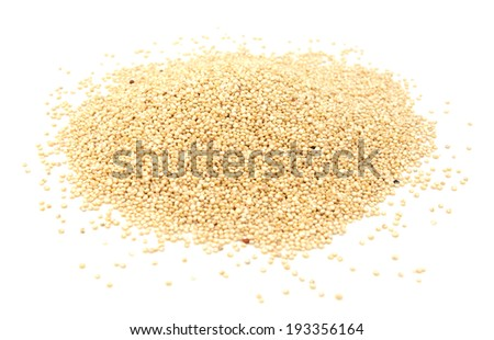 Quinoa grains, isolated on a white background - stock photo