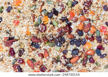 Quinoa granola - stock photo