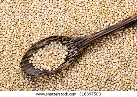 Quinoa seed, organic food for healthy eating.