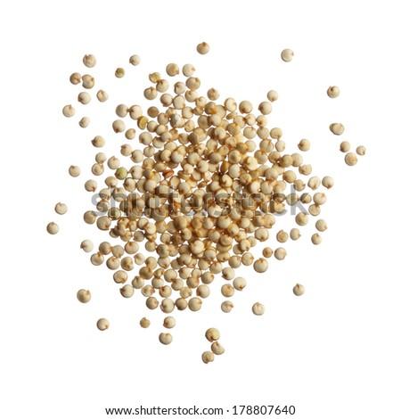 Quinoa seeds isolated on white background - stock photo