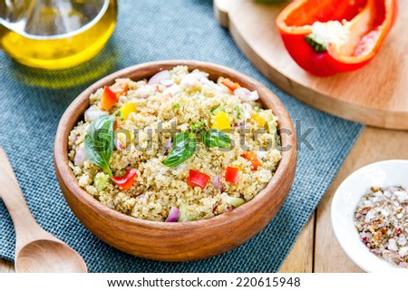Quinoa with pepper and fennel salad - stock photo