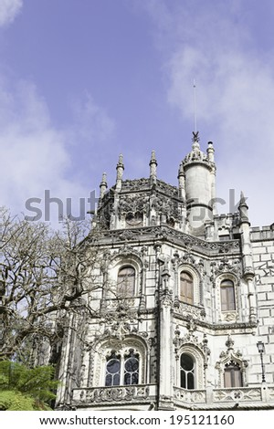 Quinta da regaleira in Sintra, Portugal ancient monument, heritage - stock photo