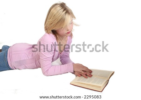 quite time for reading - stock photo