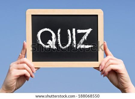 Quiz - stock photo