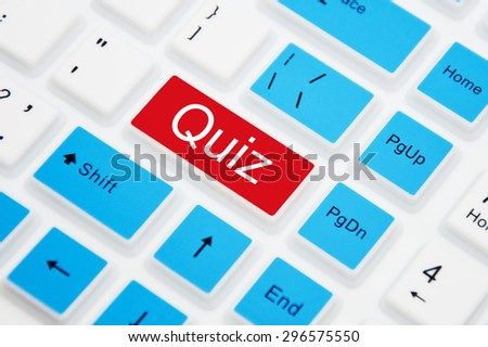 Quiz button on computer keyboard