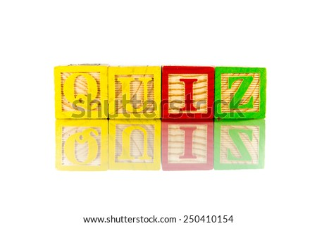 quiz colorful word on the white background - stock photo