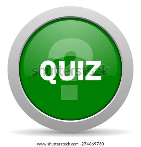 quiz green glossy web icon