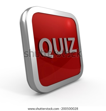 Quiz square icon on white background