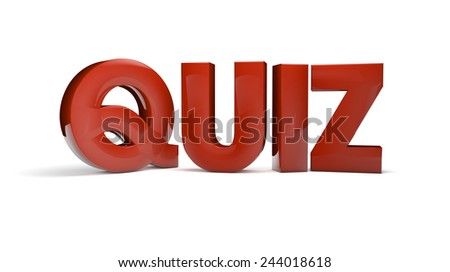quiz text isolated on white background - stock photo