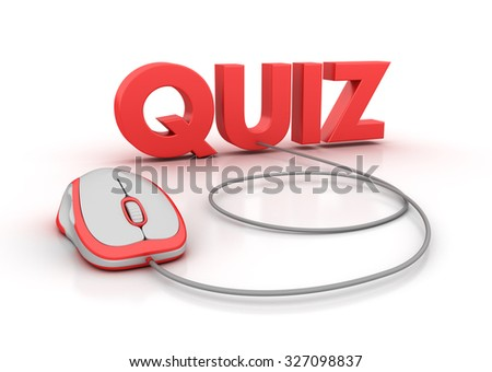 QUIZ Word with Computer Mouse - High Quality 3D Render