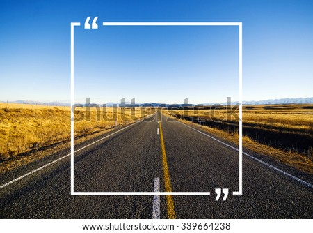 Quotation Marks Frame Message Copy Space Concept - stock photo