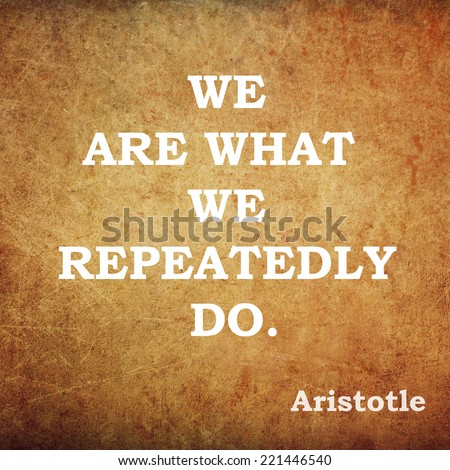 Quote of the famous ancient philosopher Aristotle - stock photo