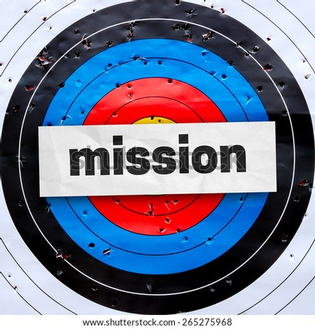 Quote with business concept on archery target - stock photo
