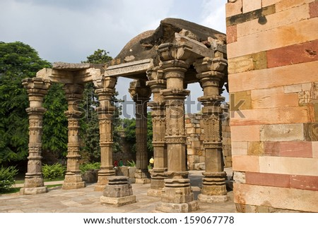 Qutab Minar, Delhi, India - stock photo