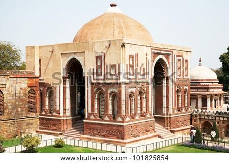 Qutub (Qutb) Minar, Unesco World Heritage, India - stock photo