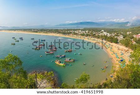 Quy Nhon beach in Binh Dinh province, Vietnam