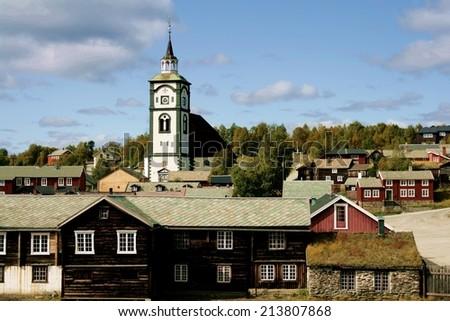Røros, Norway - stock photo