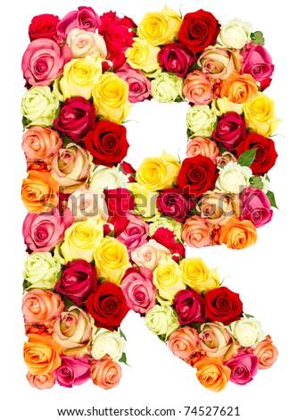 r roses flower alphabet   R Letter In Flower