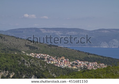 Rabac is located in a fantastic location on the east coast of Istria and is visited by countless travelers each year - stock photo
