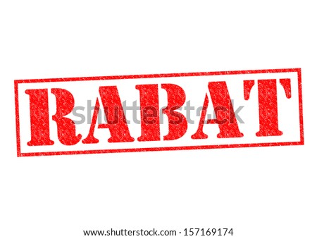 RABAT Rubber Stamp over a white background.