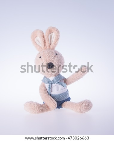 rabbit or bunny toy on a background