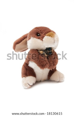 rabbit toy isolated on white